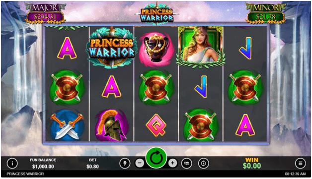 Princess Warrior slot game symbols
