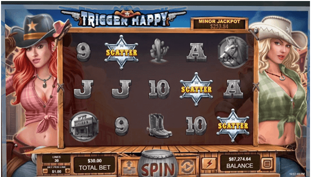 Scatter at Trigger happy slot