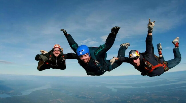 Skydive Above the Cascades