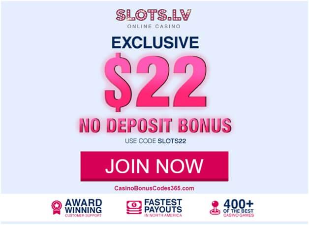Slots.lv no deposit casino