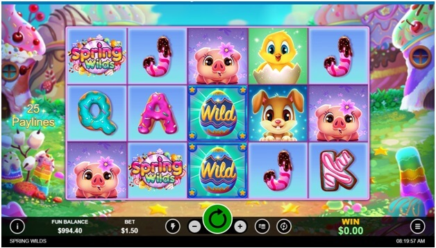 Spring WIlds- The new slot game wild symbols