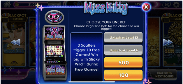 Stardust Casino Games Lobby- Miss kitty slot
