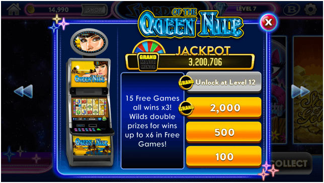 Stardust Casino Games Lobby- Queen of the Nile slot