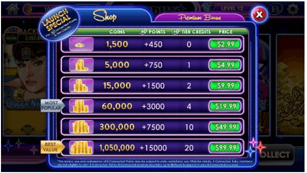 Stardust Casino - In app purchases