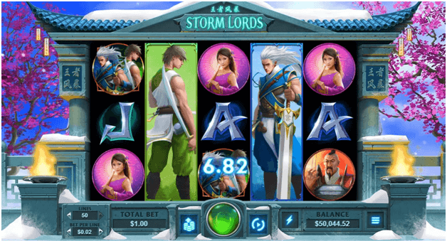 Storm Lords the new slot game symbols