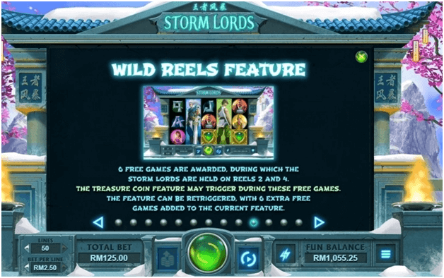 Storm Lords new slot game with Wild reels feature