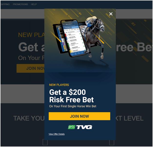 TVG sport risk free bet
