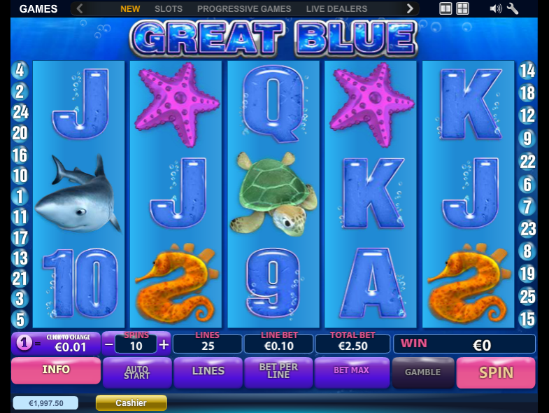 The Great Blue - SLOT GAME