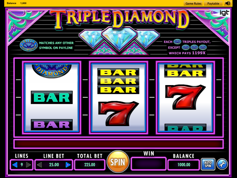 Triple Diamond™ Slot Machine Game to Play Free in IGTs Online Casinos