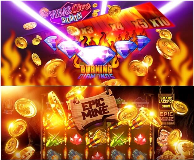 VIP bonus in Vegas live slots game app