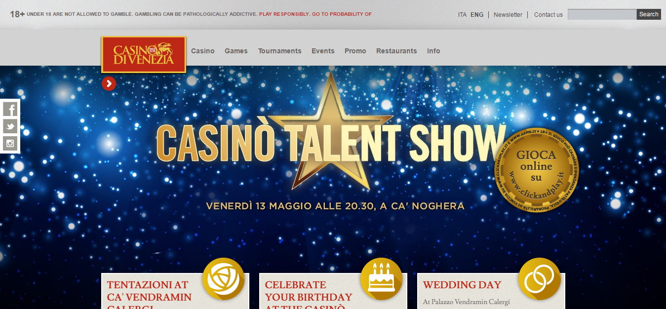 Venice Casino - the first Casino in Italy and Europe