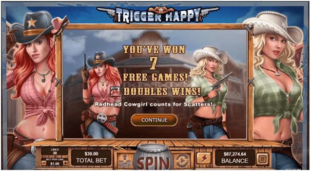 Wins at Trigger Happy Slot