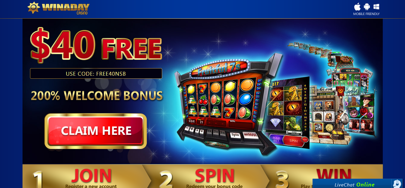 no deposit bonus codes for winaday casino
