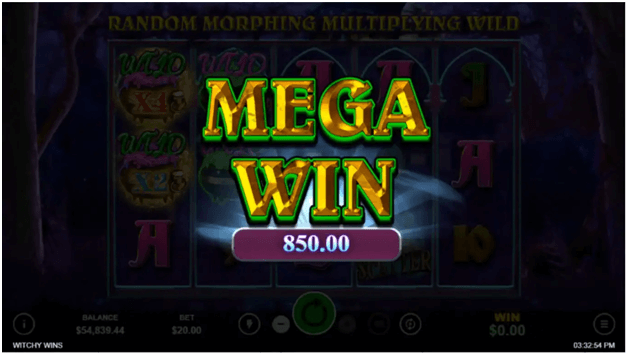 Witchy wins slot features- Mega wins