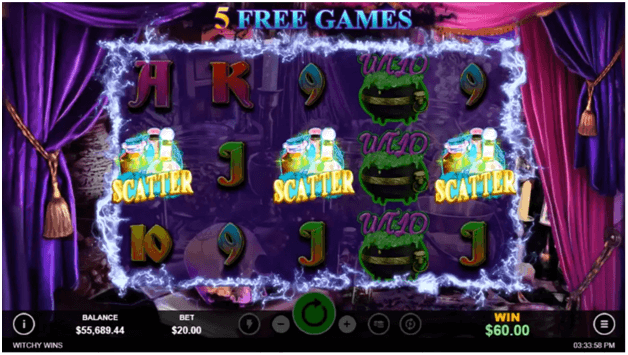 Witchy wins slot features- free games