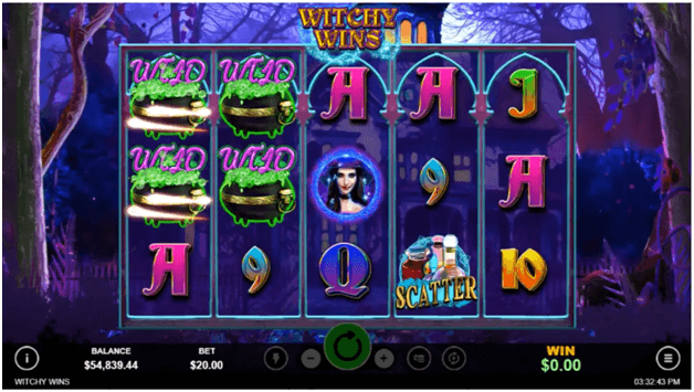 Witchy wins slot features