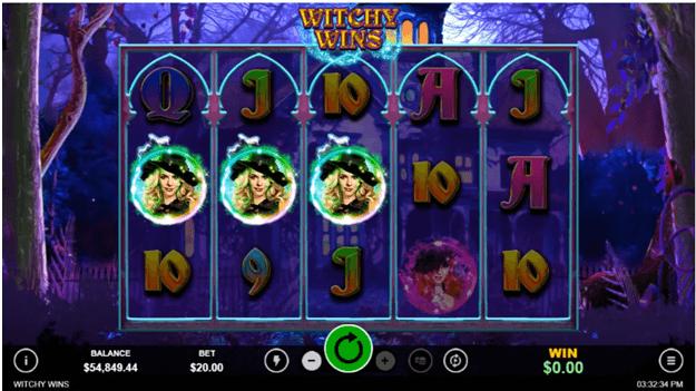 Witchy wins slot symbols