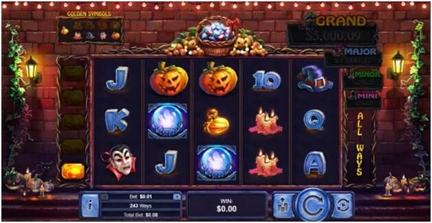 symbols of halloween treasures slot