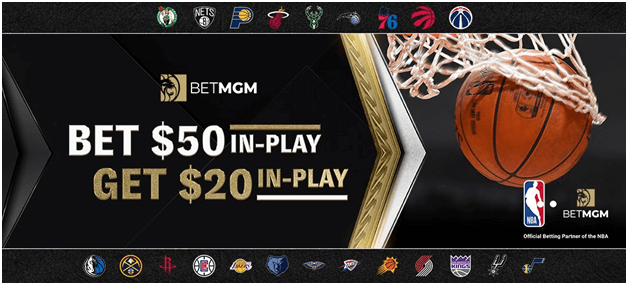 BetMGM also offers in Play bonus offers for sports betting