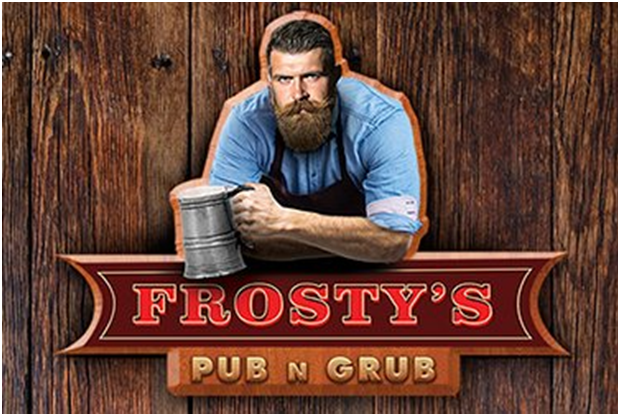 Frosty pub at Christmas casino