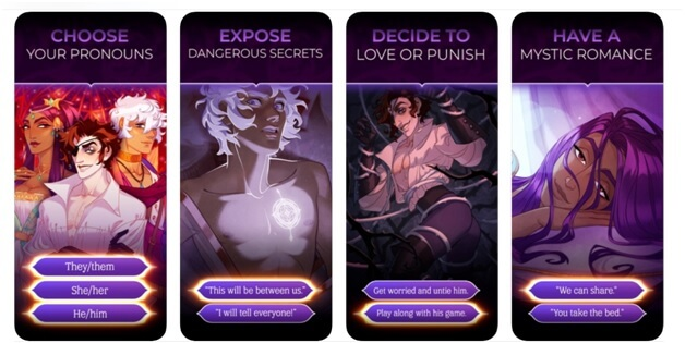 features of the game Arcana