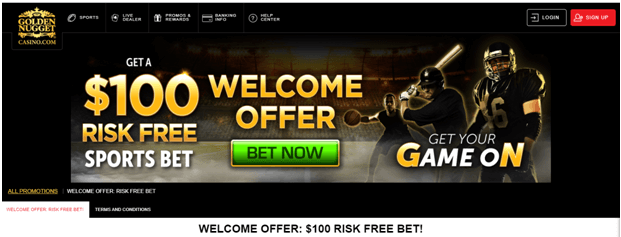 golden nugget sports risk free bet