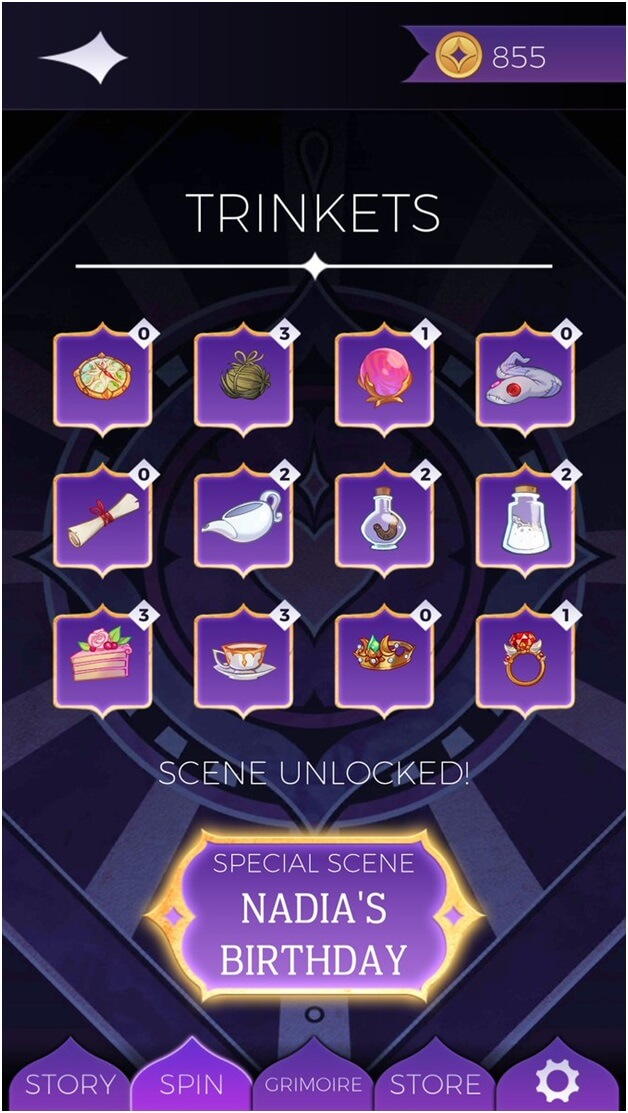 how to get trinkets in the game Arcana mystic romance