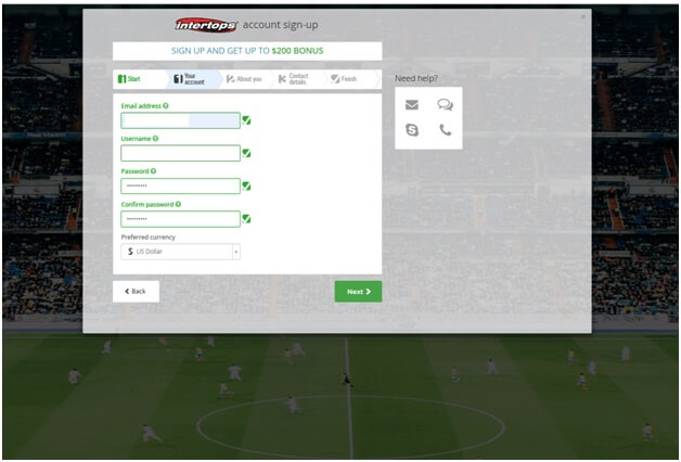 Intertops sports bookie sign up