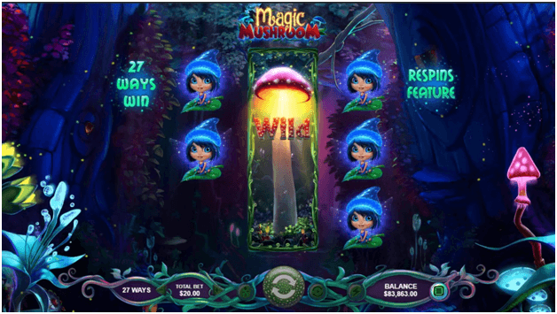 magic mushroom slot features