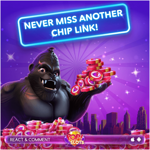free chips at pop slots