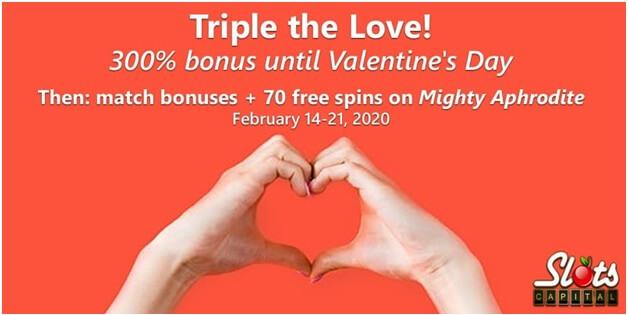 Slots capital Valentine day promo
