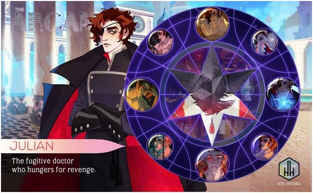 wheel of fortune in the game Arcana mystic romance